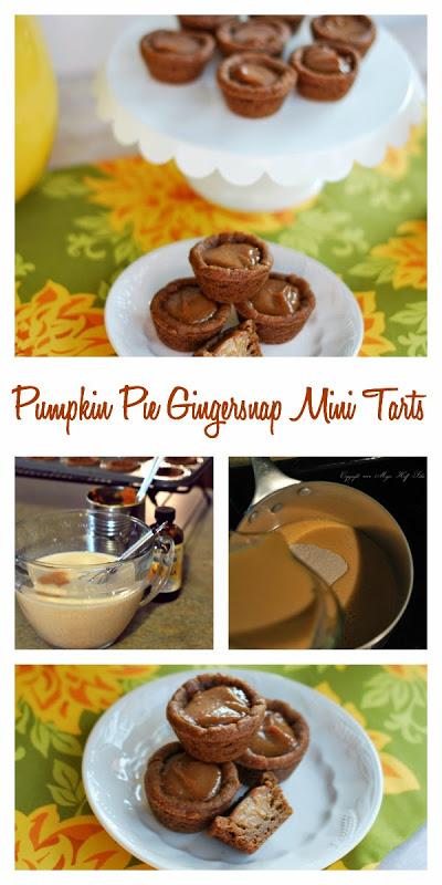 pumpkinpiegingersnapminitarts