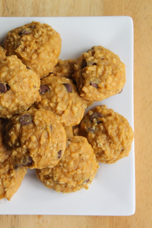 Chocolate Chip Oatmeal Pumpkin Cookies