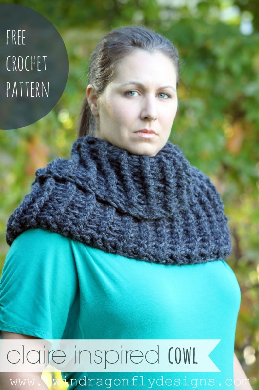 Claire Inspired Crochet Cowl Pattern