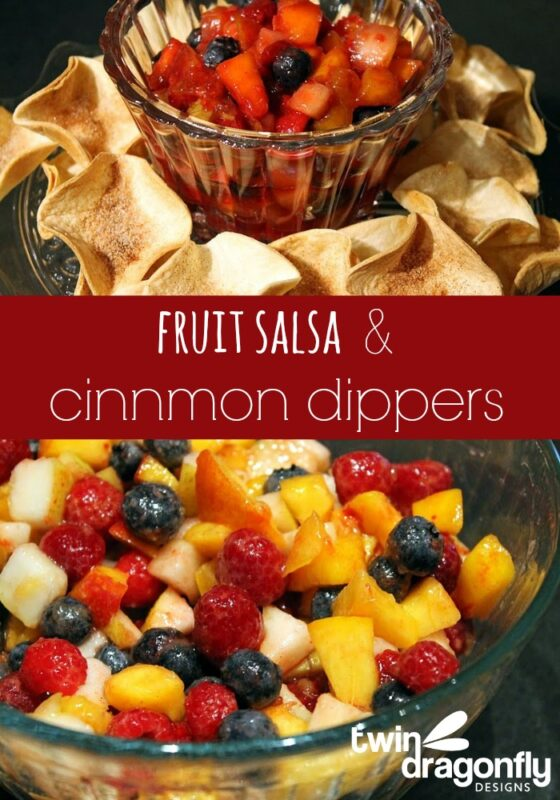 Fruit Salsa and Cinnamon Dippers