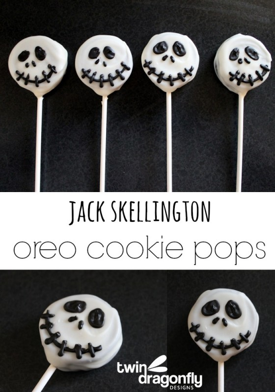 Jack Skellington Oreo Cookie Pops