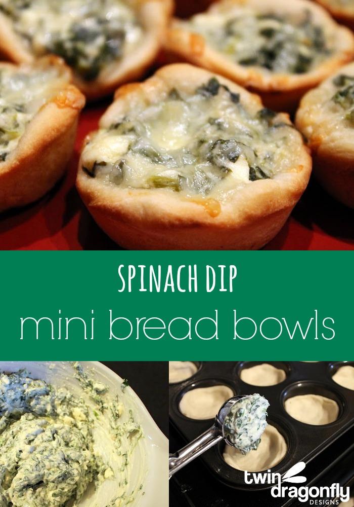 Spinach Dip Mini Bread Bowls 187 Dragonfly Designs