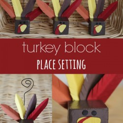 Turkey Block Place Setting Tutorial