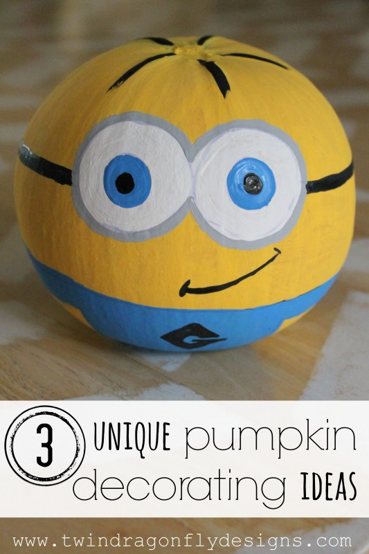 Three unique pumpkin decorating ideas dragonfly designs Unique pumpkin decorating ideas