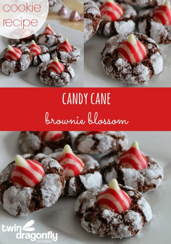 Candy Cane Brownie Blossom Cookie Recipe