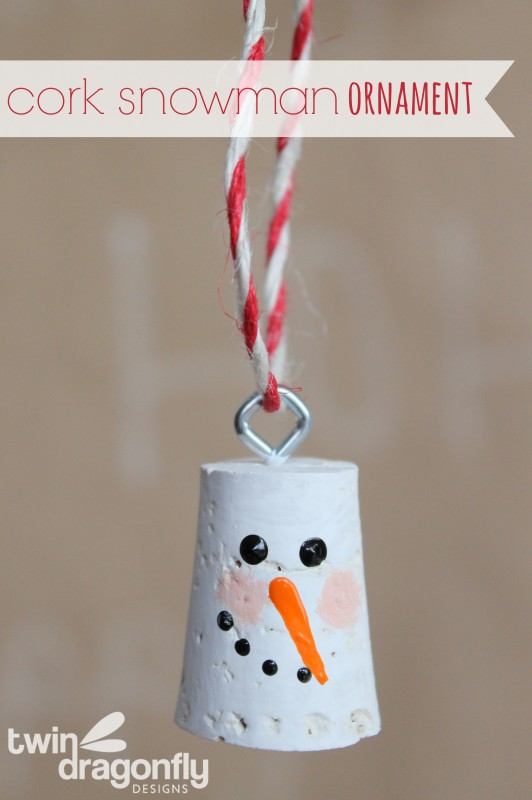 Cork Snowman Head Ornament