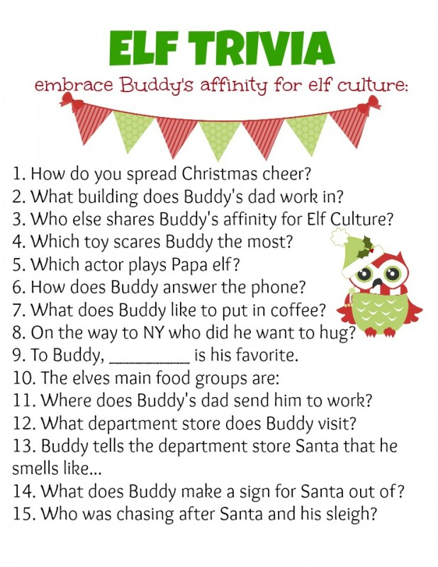 Work Christmas Party Activity Ideas Part - 21: Elf Trivia