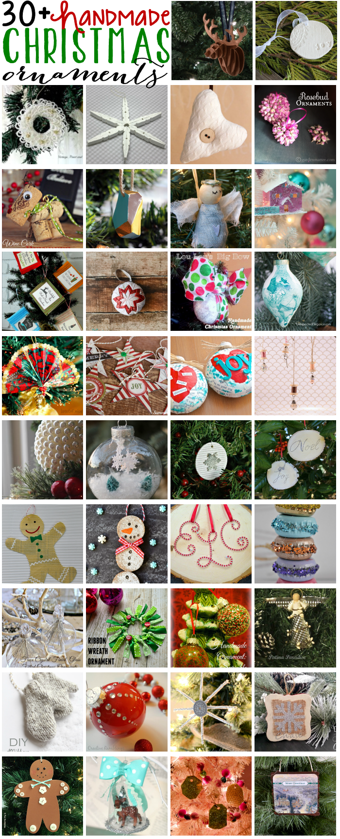 Upcycled Sweater Ornaments