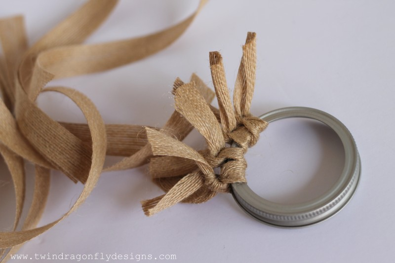 Burlap Wreath Ornament