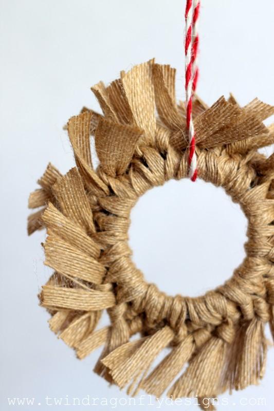 Burlap Wreath Ornament