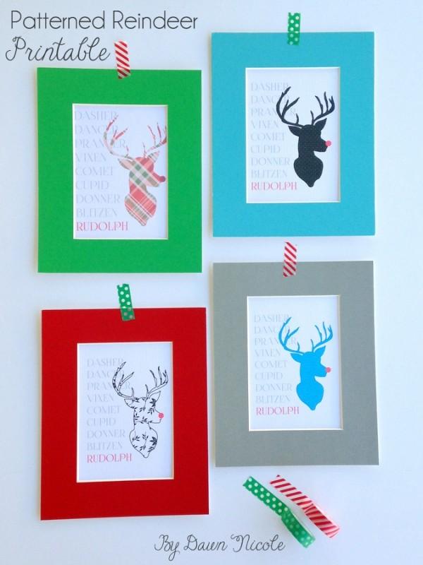 Patterned-Reindeer-Printable-1