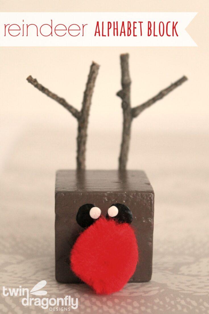 Reindeer Alphabet Block