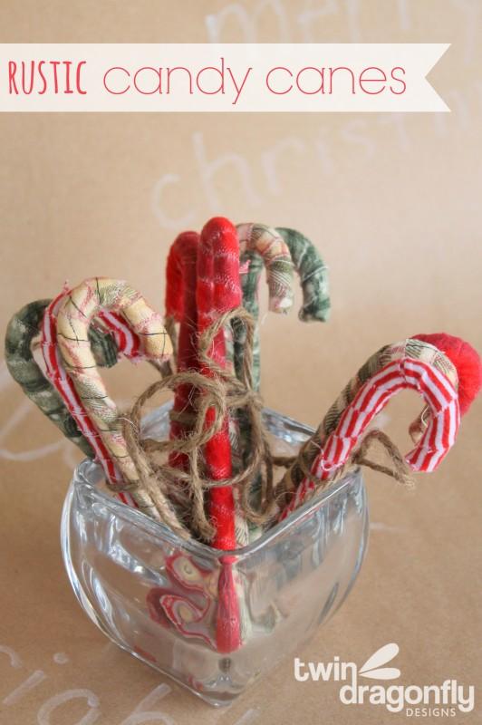 DIY Rustic Primitive Candy Cane