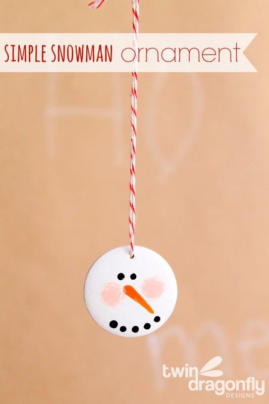Simple Snowman Ornament