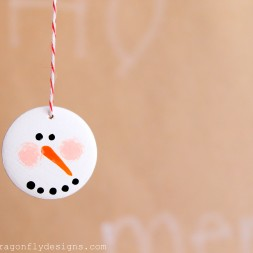 Snowman Face Ornament-013