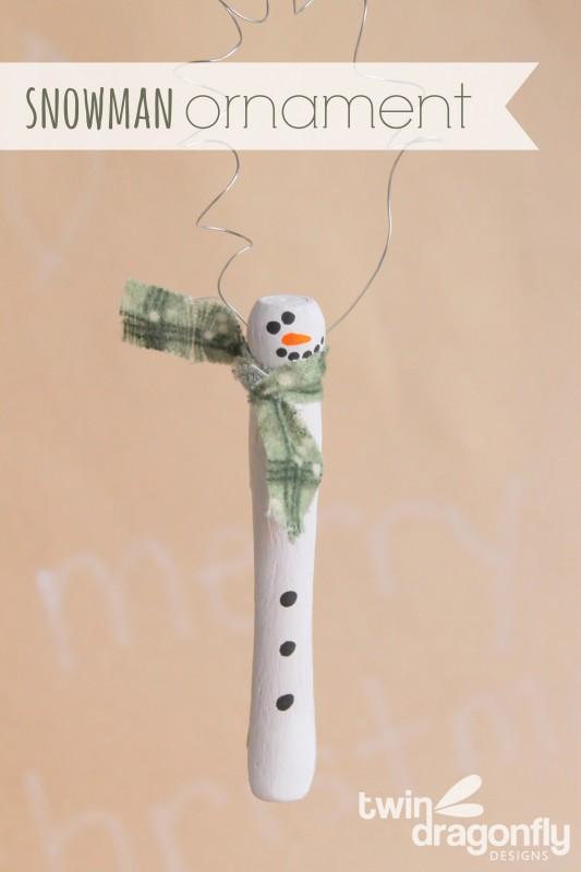 Wooden Snowman Ornament and Cricut Explore Giveaway