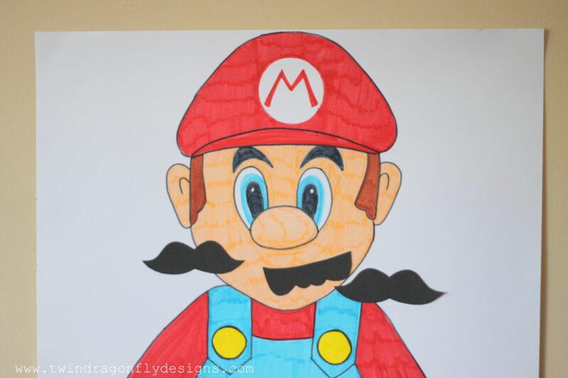 Pin the Moustache on Mario