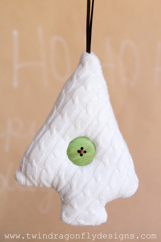 Upcycled Sweater Ornament