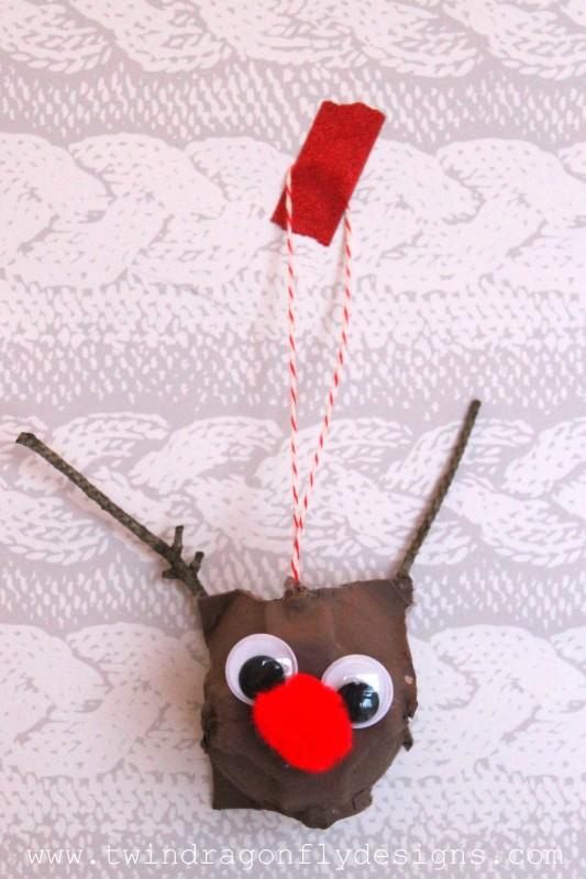 egg carton reindeer-007