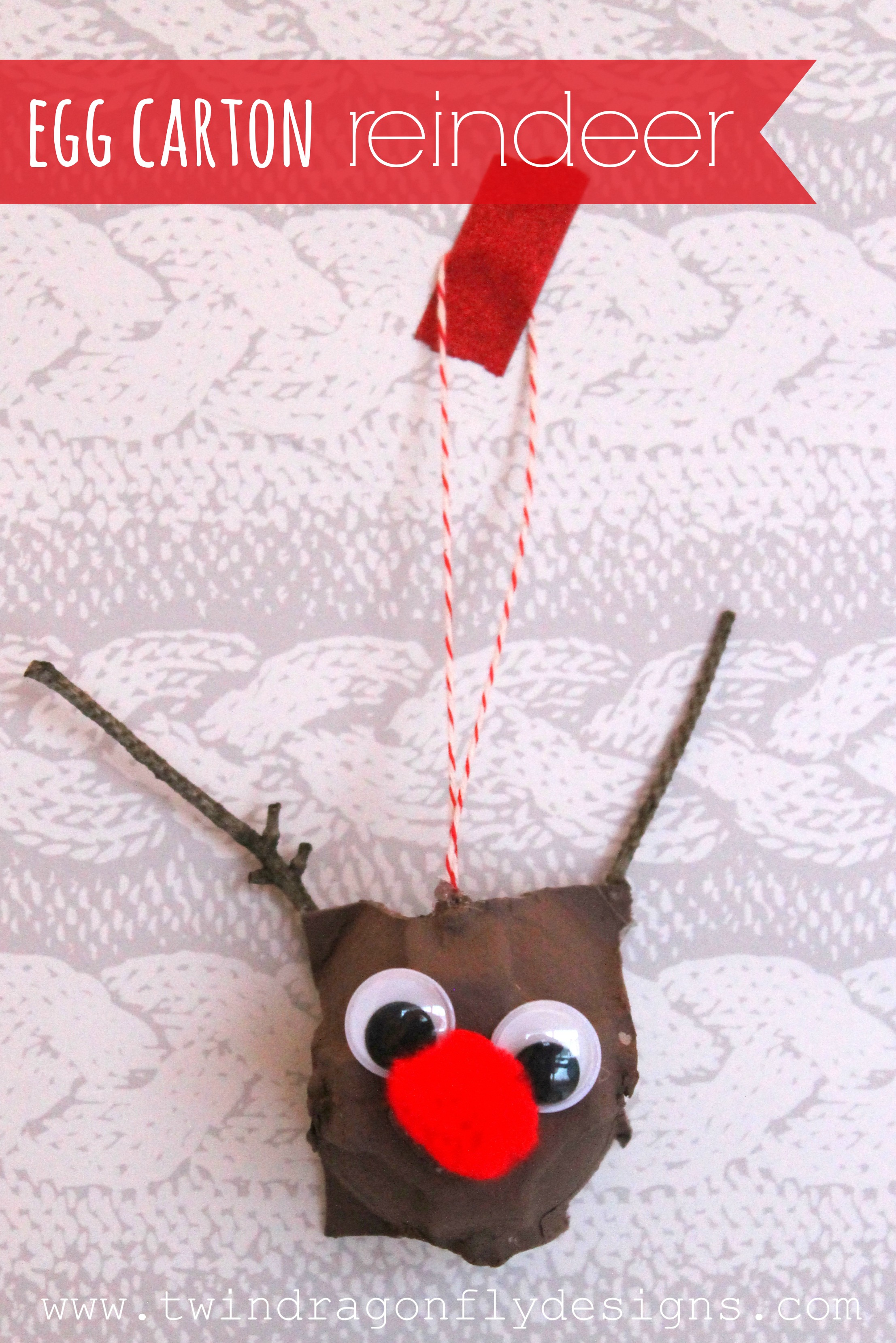 Egg carton reindeer dragonfly designs for Design your own egg boxes