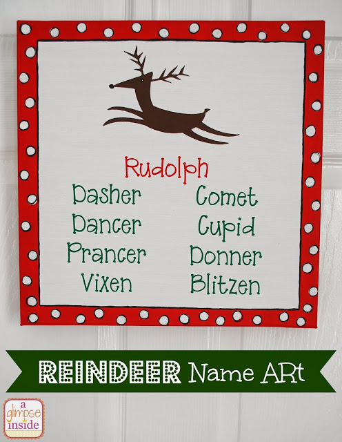reindeer name art- labeled