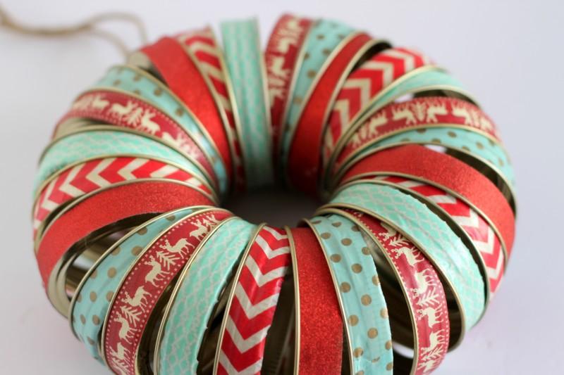 Christmas Mason Jar Lid Wreath-033