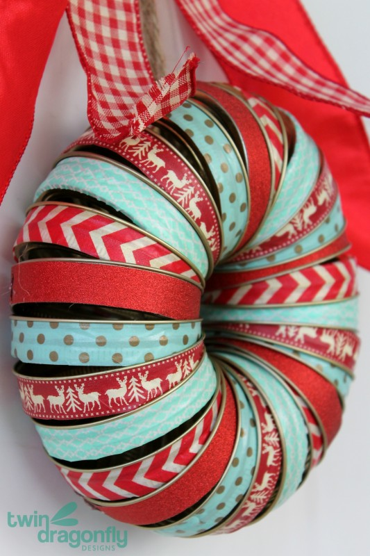 Holiday Mason Jar Washi Wreath
