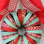 Holiday Mason Jar Wreath
