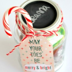 Mason Jar Pedicure Gift Idea