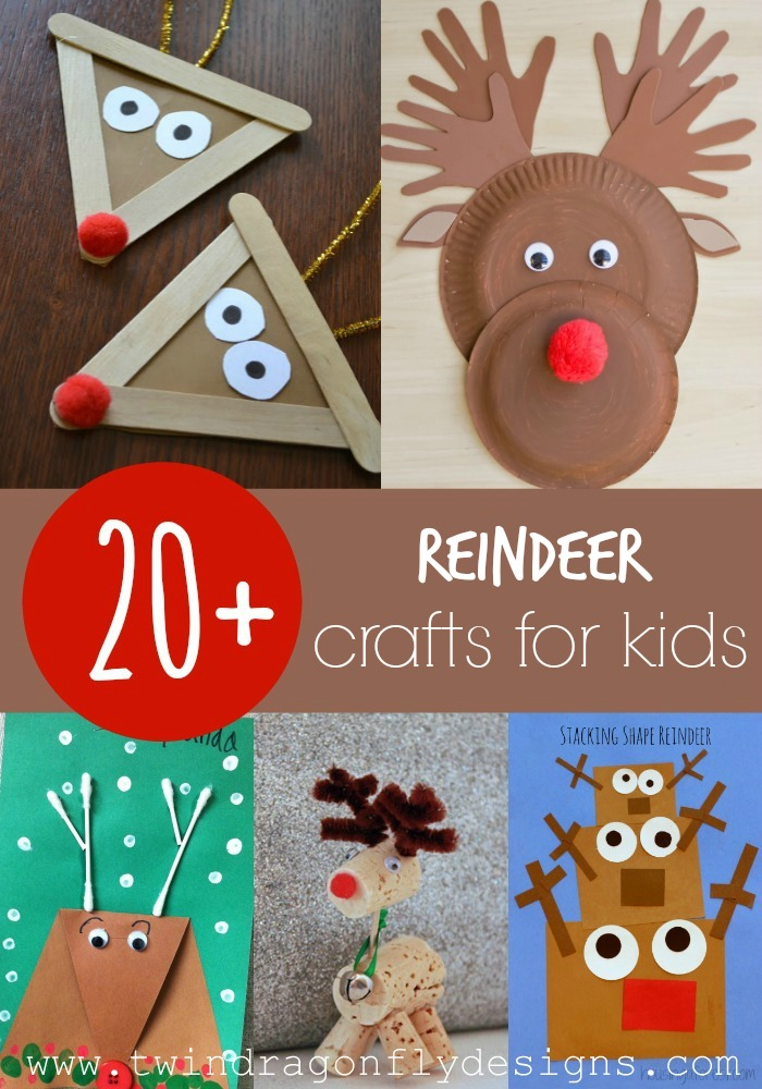 20 reindeer crafts for kids dragonfly designs for Christmas crafts for kindergarten students