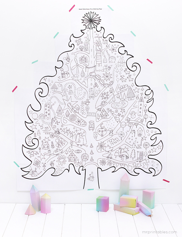 Giant Christmas Tree Coloring Pages Coloring Pages