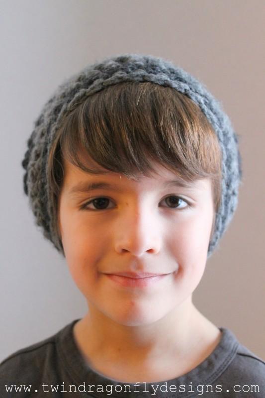 Child's Slouchie Beanie Crochet Pattern