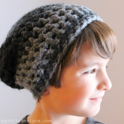 Child's Slouchie Beanie Crochet Pattern
