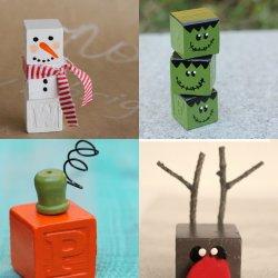 Crafts to make with alphabet blocks