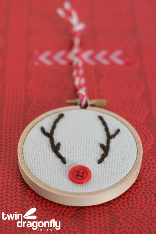Embroidery Hoop Reindeer