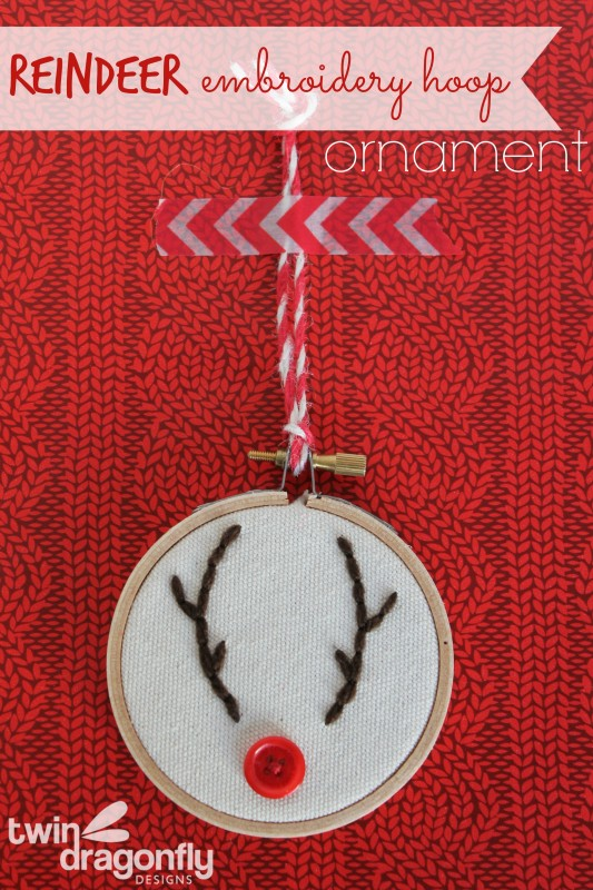 Embroidery Hoop Reindeer Ornament Tutorial