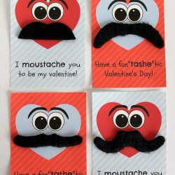 Moustache Valentines with Free Printable