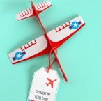 Plane Printable Valentine