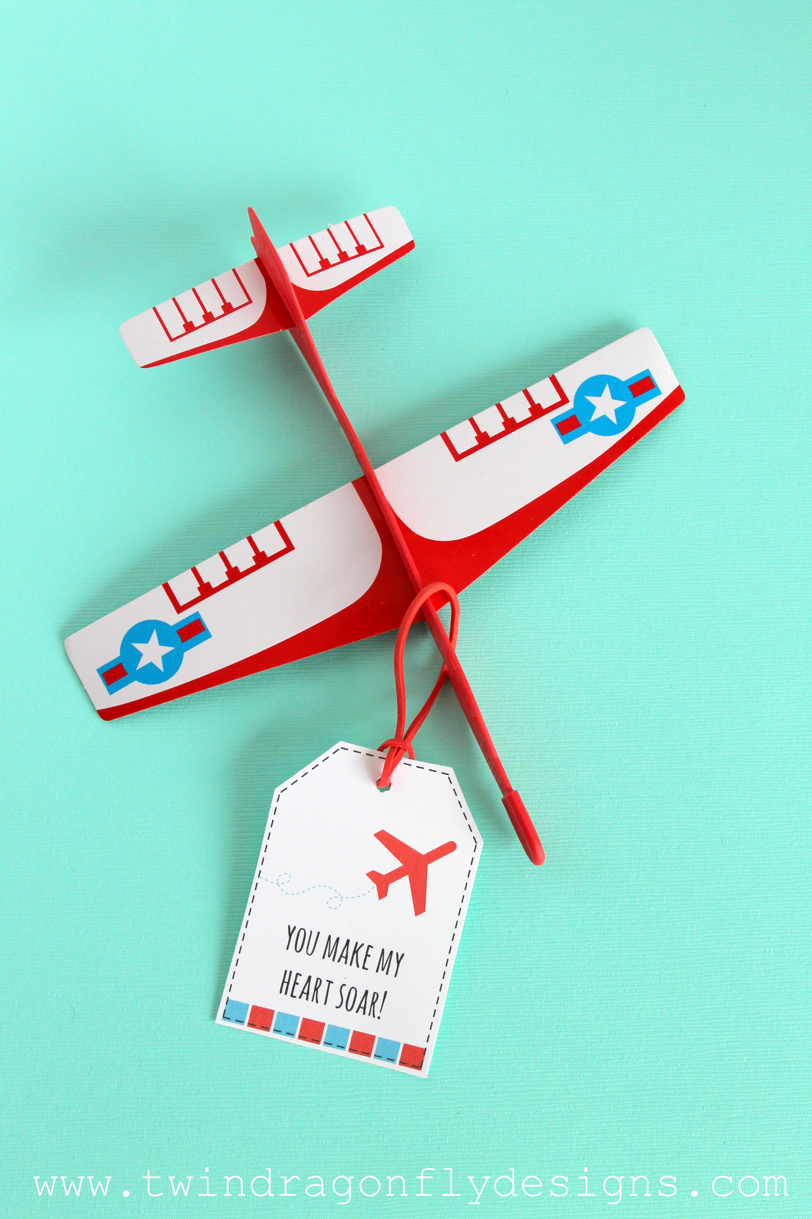Airplane Valentines with Free Printable » Dragonfly Designs