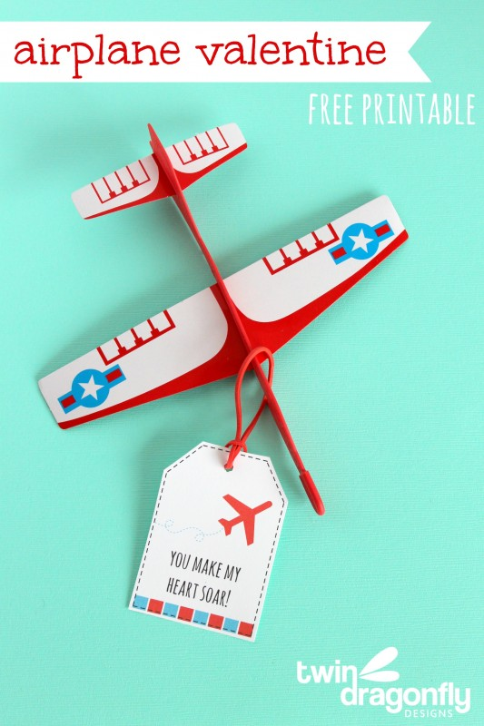 airplane valentines with free printable - Valentines Pictures Free