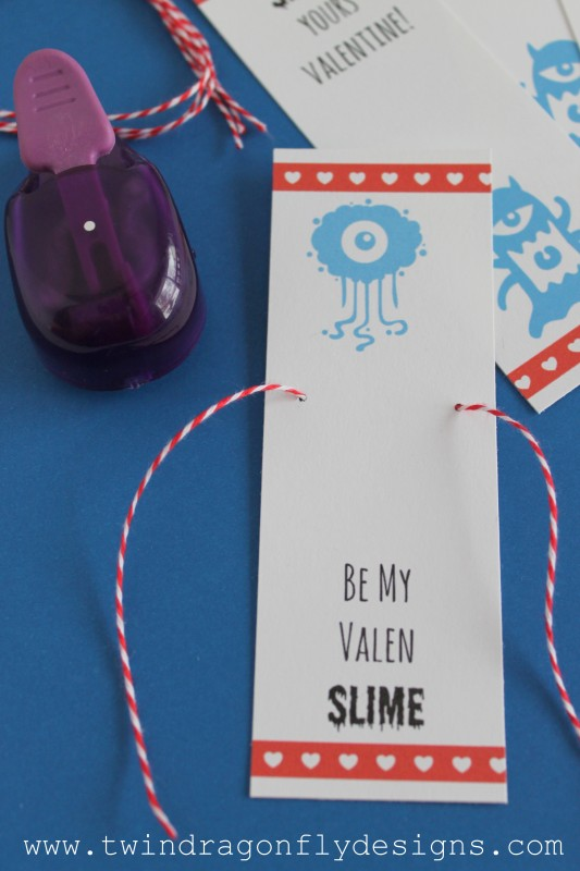 Slime Printable Valentine