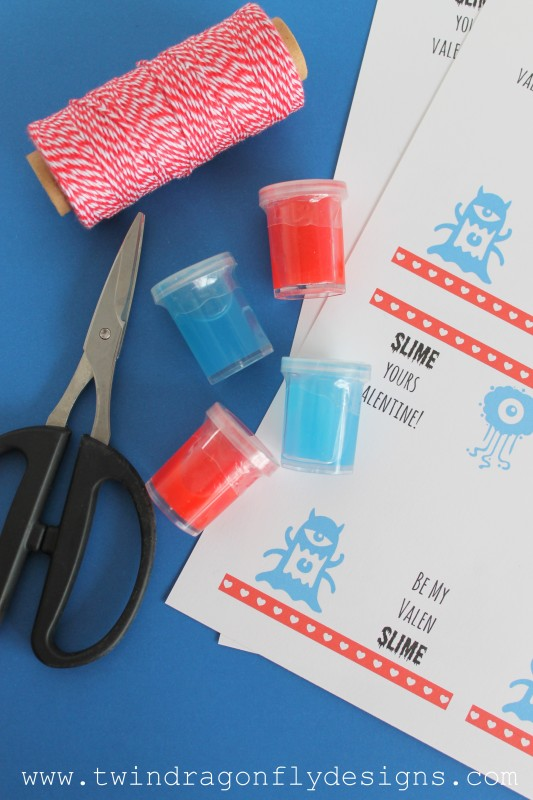 Slime Valentines with Free Printable