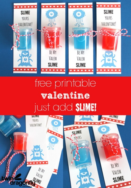 Slime Valentines with Free Printable