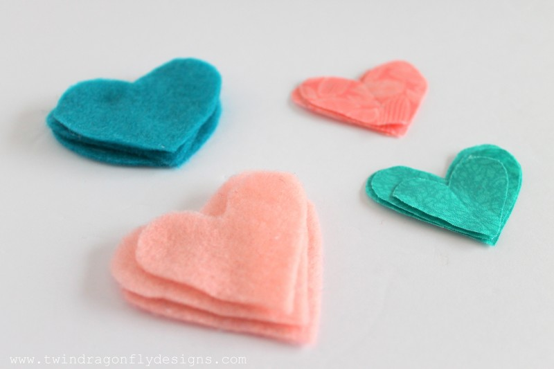 Valentine Felt Heart Garland-001