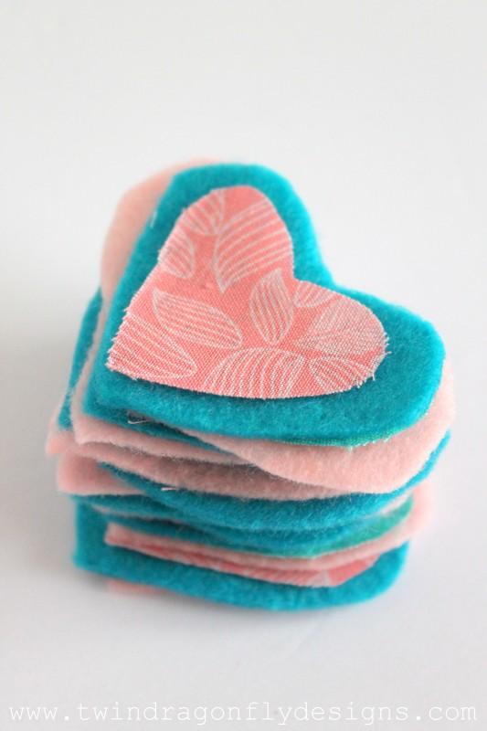Valentine Felt Heart Garland-003