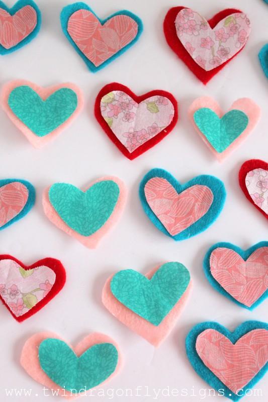 Valentine Felt Heart Garland-005