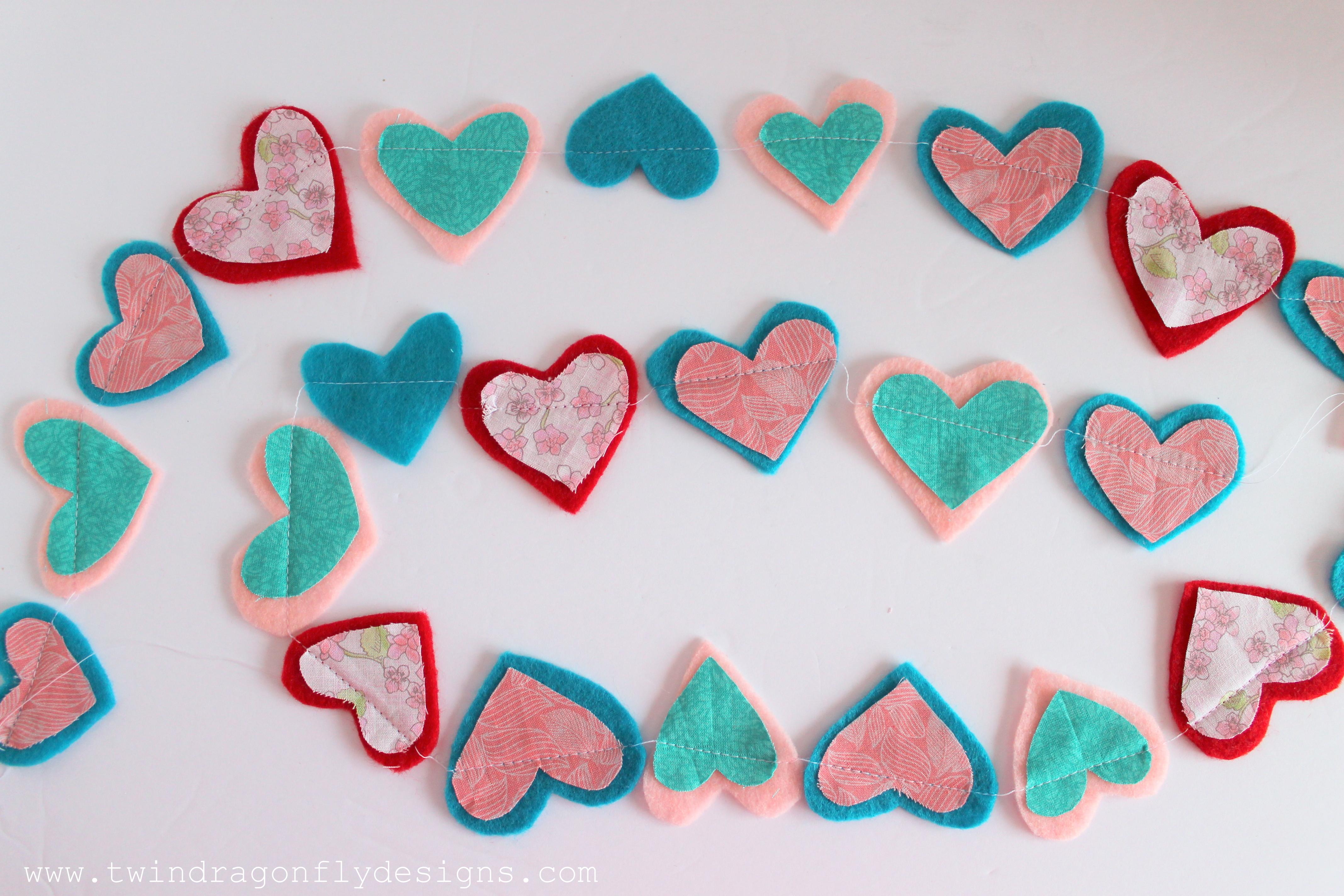 Valentine S Day Felt Heart Garland Homemade Heather
