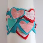 Valentine Felt Heart Garland-019