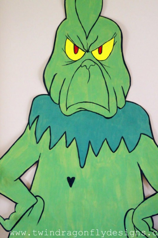 Pin the Heart on the Grinch Activity with free Printable