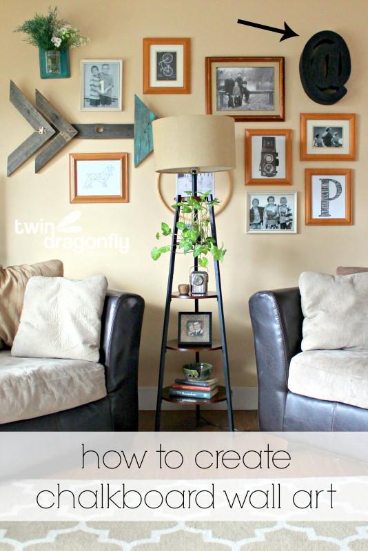 How to Create Chalkboard Wall Art